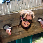 Evan was getting mad at me for taking his picture in the stocks because he wasn't comfortable. So I put myself into the stocks and he took way too many pictures. He told me he was going to t ...